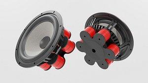 Speaker Woofer focal 03 - Blender 3d model