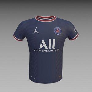 3D Messi PSG 30 - T shirt Low poly model