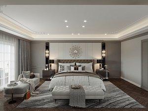 3D Modern Interior 573 - 2 Bedrooms  1 Office Room model