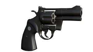 Gun Revolver Magnum Low-Poly 3D model