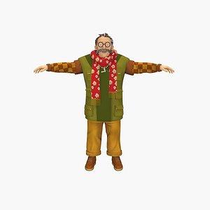 Cartoon Father 3D model