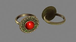 The Lord of the Ring - Ruby Ring - Magic Ring - Copper Ring 3D