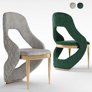 3D Golden Leg Chair model