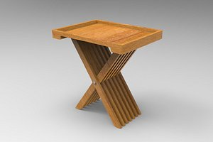 solid wood tray table 3D model