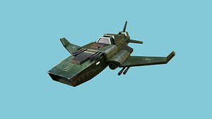 jet plane spaceship 05 3D