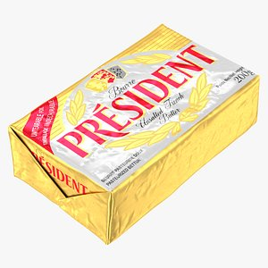 3D model President Unsalted French Butter