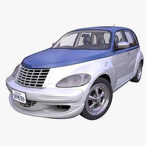 generic american hatchback interior car 3D model