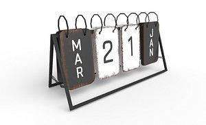 calendar modeled 3D model