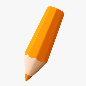 3D pencil tilted stylized model