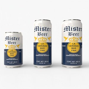 3D Beer Can Pack 01
