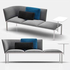 3D model add classic sectional sofa