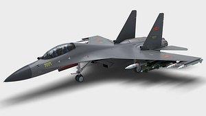3D model China J-16 Multirole Fighter
