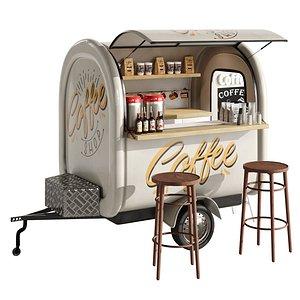 3D Coffee truck 2 model