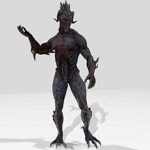 3D model creature monster character
