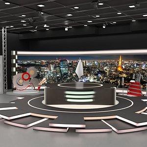 3D model studio news tv