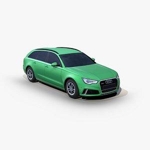 Audi RS 6 2013 station wagon 3D model