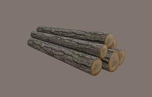 logs nature 3D model