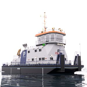 Push Boat 28m 3D model