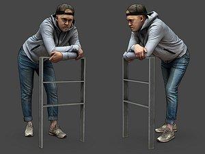 Stylized Man Character 3D model