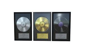 Gold and Platinum Record 3D model