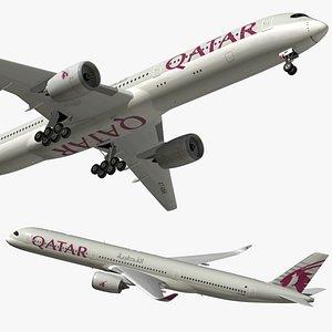 airbus a350 qatar 3D