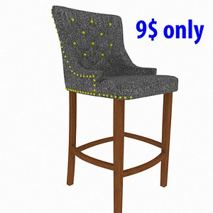 ascot stool chair 3D model