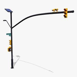 intersection traffic light camera 3D model