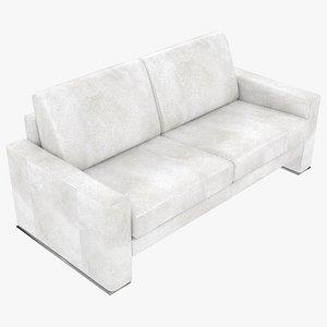 3D model modular leather white