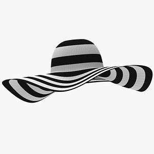 Large Brim Hat 3D model