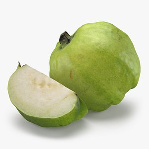 Whole Guava with Slice 3D model