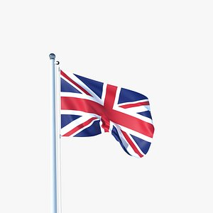 3D Animated Flag of United Kingdom model