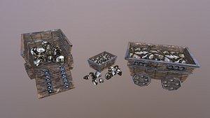 Gold Mine Cart 3D model
