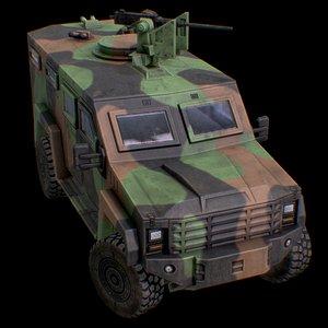 3D LENCO G2 MILITARY FRANCE CAMO model