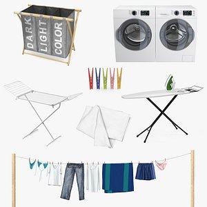 3D model laundry 6 drying