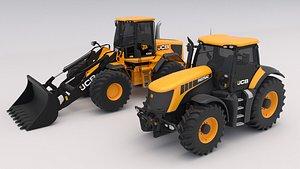 3D model Collection Construction Equipment JCB