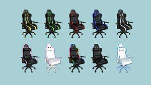 3D 10 Gamer Chair Collection - Furniture Interior Design