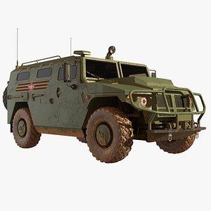 3D GAZ-2330 Tiger HMTV
