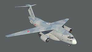 3D kawasaki c-2 aircraft model