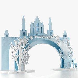 3D Christmas Ark for Entrance Decoration model