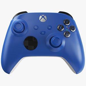 3D X-Box Series S Blue Controller