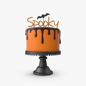 3D Halloween Cake with Spooky Topper