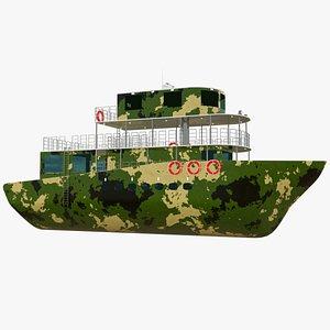 yacht boat ship 3D model
