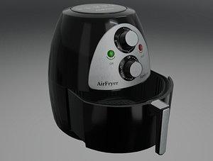 3D Air Fryer Highpoly Custom model