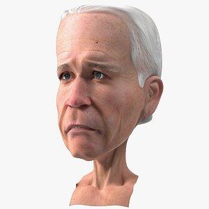 Cartoon Joe Biden Head Rigged for Modo model