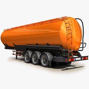 3D semi truck 03 trailer model