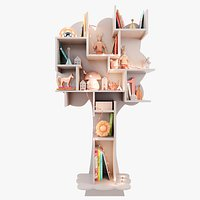 Tree-Shelf for children's room with decor