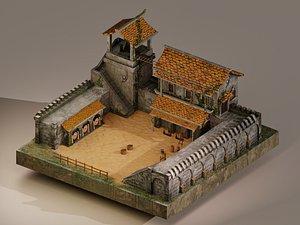 Archer Barracks Level 15 3D model