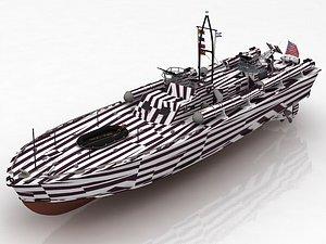 3D Raptor Boat Project 03160 Ship