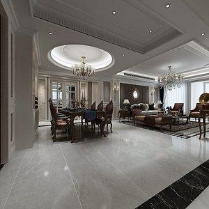Home Interior Design in Empire Style 3D model