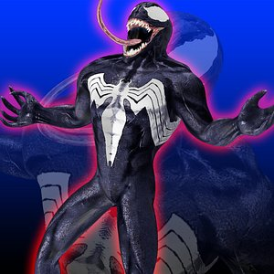Venom Rigged 3D model